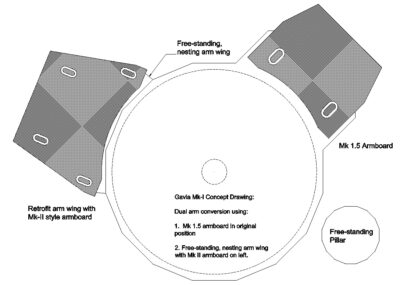 Galbier Design - Mk 1.5 Dual Tonearm Retrofit